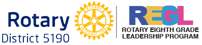 Rotary Eighth Grade Leadership Logo